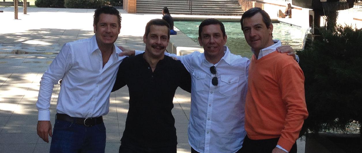 Damián Villar, Alexis Núñez Oliva, Xavier Rodríguez y Luis Cabeza.