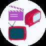 icono radio, cine y tv
