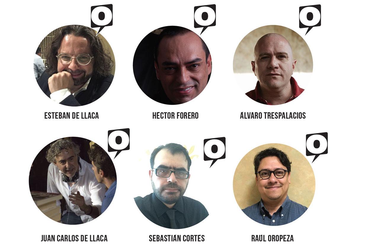 Esteban de Llaca, Héctor Forero, Álvaro Trespalacios, Juan Carlos de Llaca, Sebastián Cortés y Raúl Oropeza.